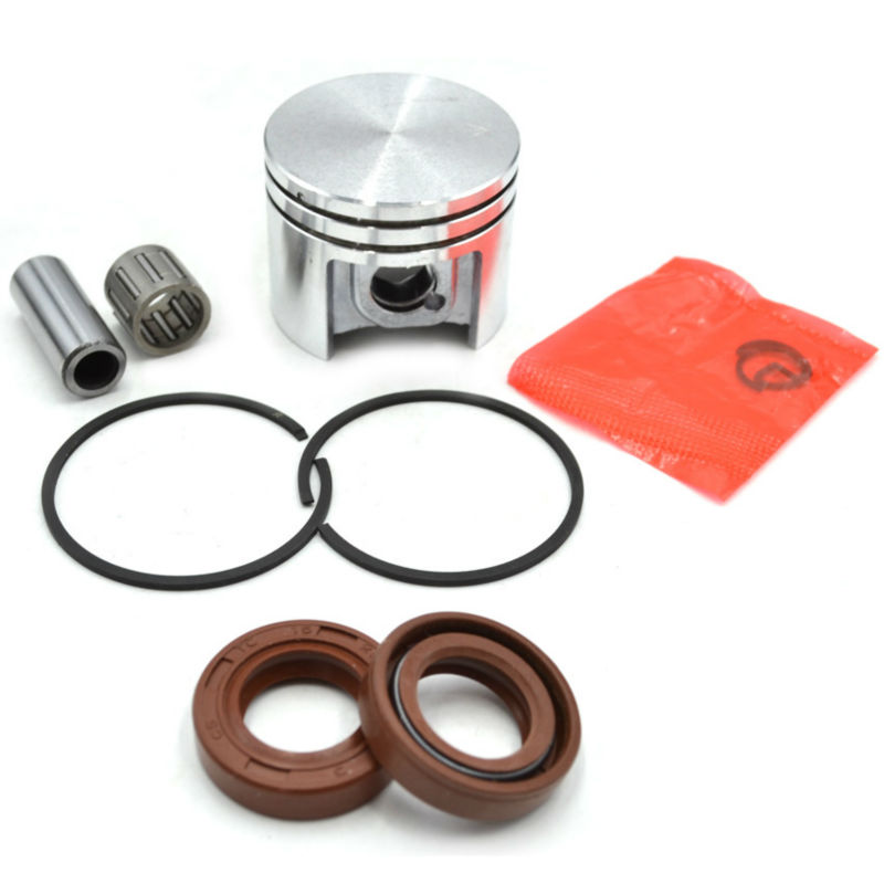 Chainsaw Piston Kit with Rings Needle Bearing and Oil Seal 15x25x5 for Stihl MS180 Replacement #11300302004 96380031581 oil seal