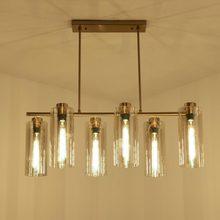 E27 Lustre Glass Lamp Modern Design Chandelier Living Room Kitchen Dinning Foyer Decor Home Lighting Fixtures Copper Metal