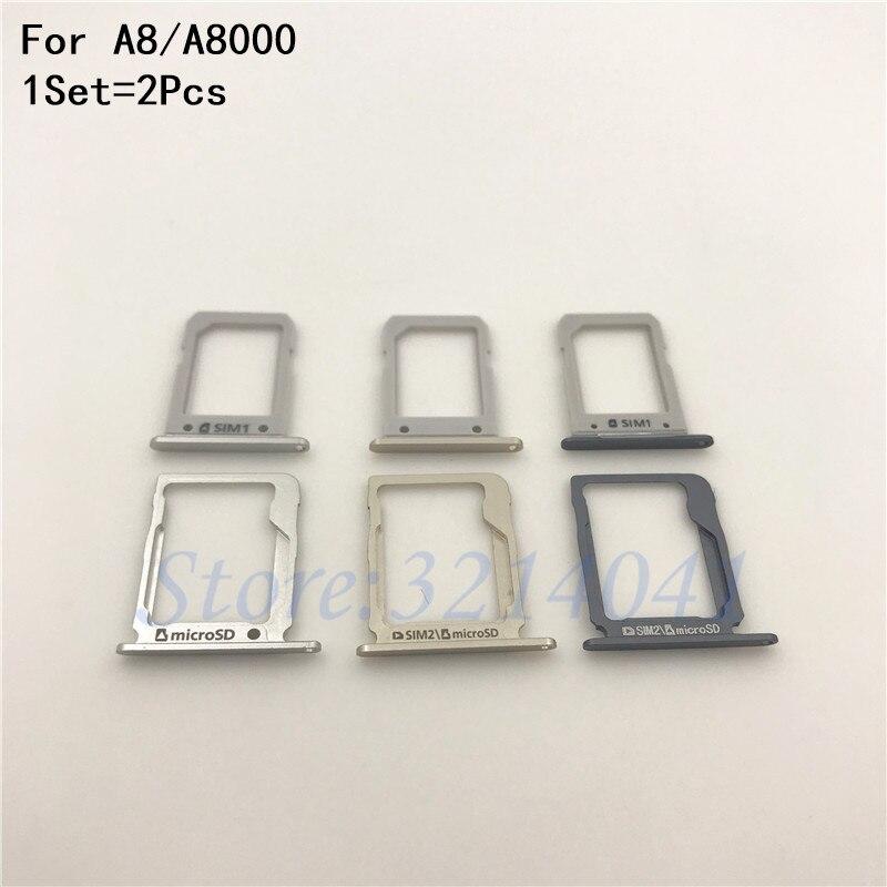 New Original Housing SIM Card micro SD Tray Slot Holder For Samsung Galaxy A8 A8000 Repair parts