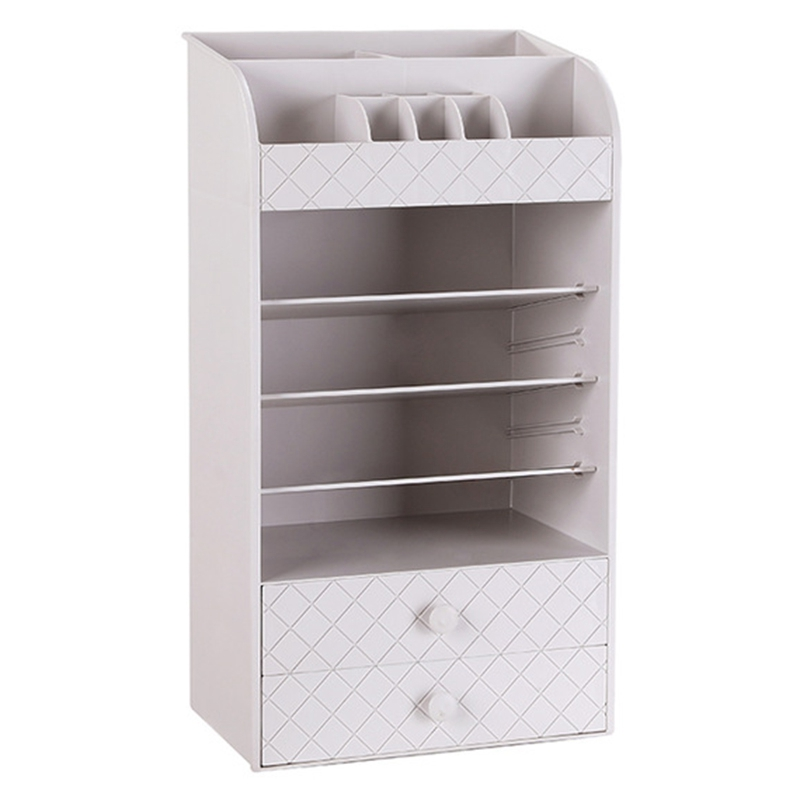 Jewelry Cosmetic Storage Box Small Drawer Organizer Multi-Functional Desk Sundries Makeup Case Container