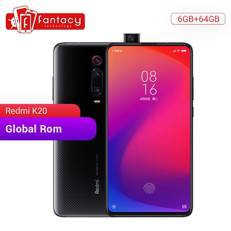 Original Xiaomi Redmi K20 Global Rom 6GB 64GB Snapdragon 730 Octa Core 6.39'' AMOLED Screen 48MP Cameras 4000mAh