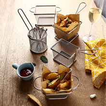 Stainless Steel Mini Frying Basket Fryer Strainer Serving Food Presentation French Fries Kitchen Accessories