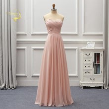 Robe De Soiree 2019 Dusty Pink Chiffon Long Bridesmaid Dresses Brides  Vintage Woman Guest Formal Party Gown Sukienka Wesele BR06 3bcfd7f298cb