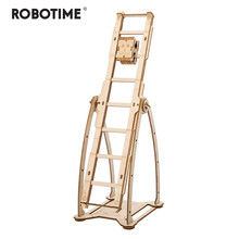Robotime Children Adult Interesting Swing Boy Stress Relief Toy DIY Wooden Novelty Gag Toy Sports & Entertainment LP302(China)