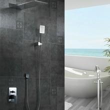 Freies verschiffen becola wand dusche sets luxus badezimmer warmes und kaltes wasser set regendusche wasserhahn B-9906