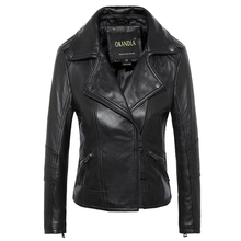 Free shipping,Brand simple style Genuine leather womens casual jackets.plus size female soft sheepskin street jacket,sales.