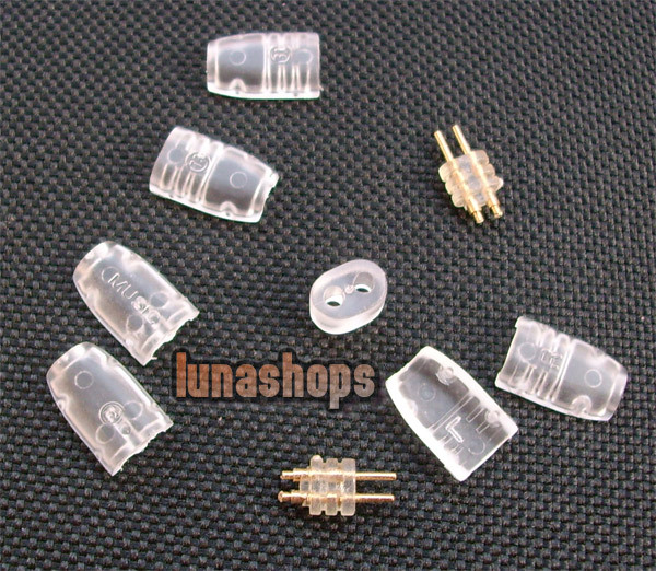 Transparent Shell Ultimate UE tf10 5pro sf3 0.75mm Earphone Pins Plug For DIY Cable LN002215