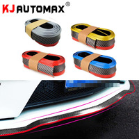 1 Roll Dual Color 2 5M Carbon Fiber Car Styling Strips Sticker Body Kit Wrap Protector