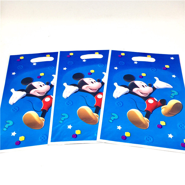 bb37c1b3c Disney Mickey Mouse Cartoon 10pcs/lot Happy Baby Children Boy Birthday  Party Decorative Supplies Plastic