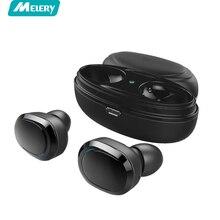 Fone de ouvido Duplo TWS Verdadeiro fone de Ouvido Estéreo de Música Sem Fio Bluetooth Fones De Ouvido Fones de Ouvido Mic para o iphone, samsung Nota Galáxia s8/9