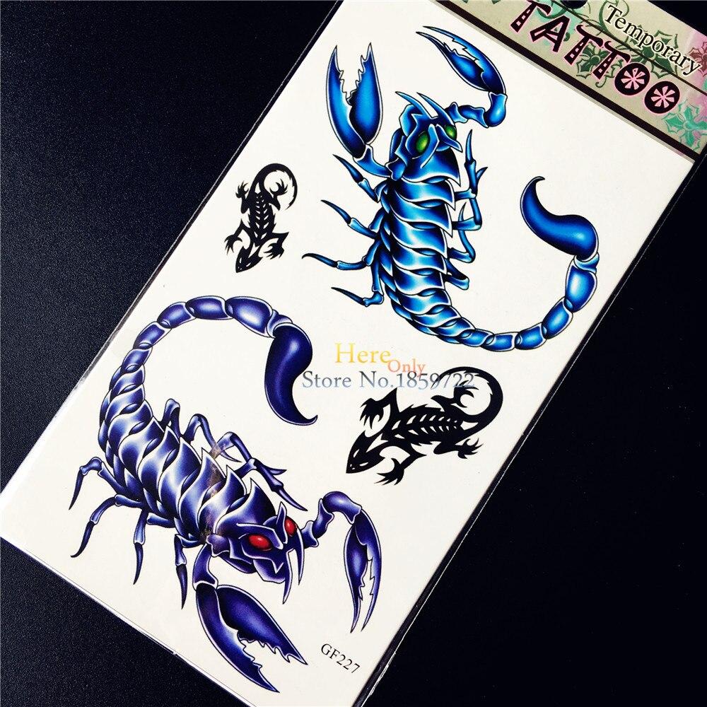 ᐊzło Scorpions 3d Gecko Naklejki Tatuaże Tymczasowe Tatuaż Naklejki