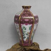 Jingdezhen Antyczne Ręcznie Krajobraz kwiat i ptak Home Office Decor Klasyczna Chińska Ceramiczny Wazon