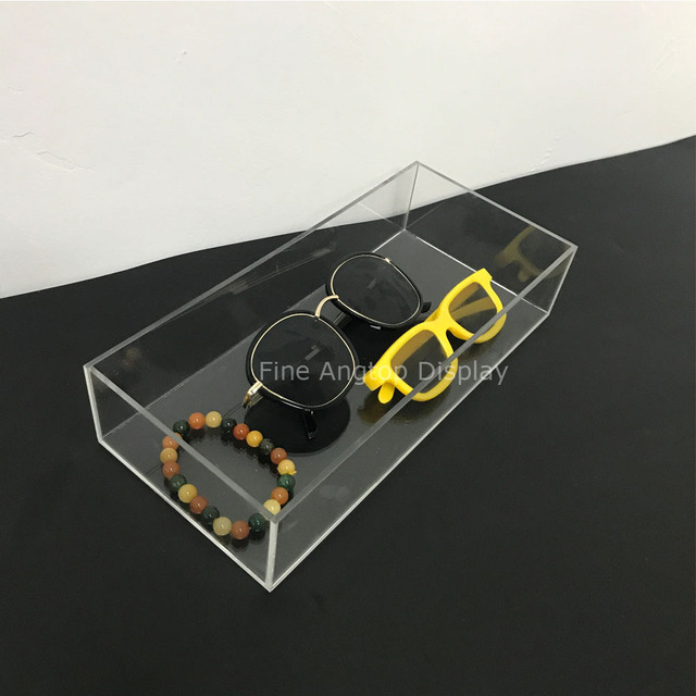 5552100b8b Clear Collection Acrylic Tray Cosmetic Drawer Organizer Sunglasses Jewelry  Storage Tray Holder