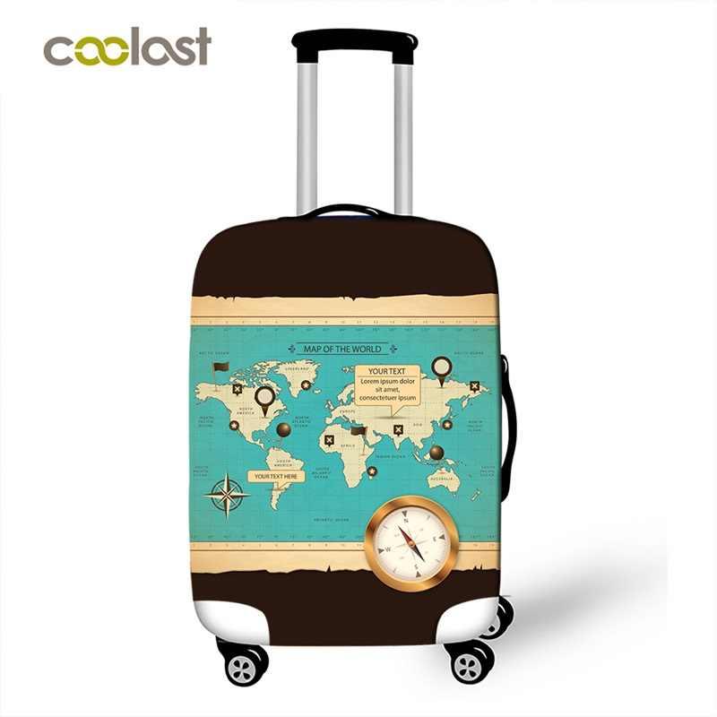 Funda de equipaje de estilo europeo para maleta con ruedas de 18-32 pulgadas, funda elástica con dibujos para chicas, funda para viaje, accesorios de viaje para equipaje