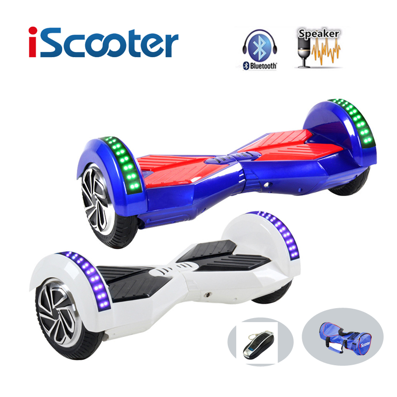 iScooter bluetooth hoverboard 8inch 2 Wheel Smart Electric Scooter Balance Hover Board LED 8 hover board  UL2722 giroskuter