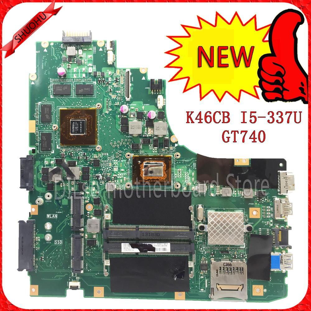 KEFU K46CM For ASUS K46CB K46CM laptop motherboard new motherboard rev2 0 i5 3337u SB3 0