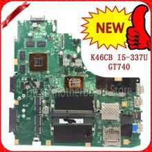 KEFU K46CM For ASUS K46CB K46CM  laptop motherboard new motherboard rev2.0 i5-3337u SB3.0 K46CB 100% tested motherboard