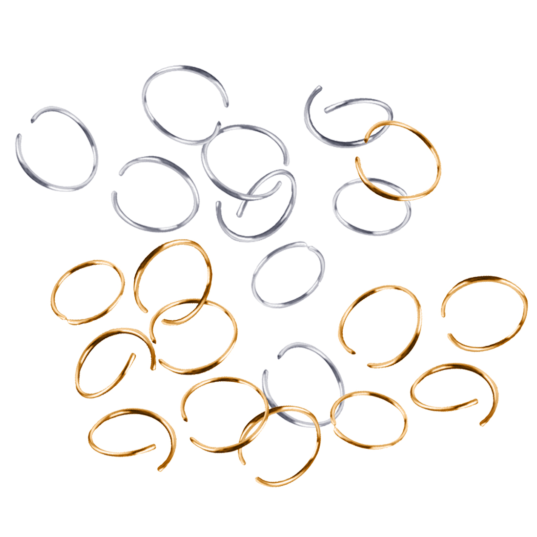 20PCS/Lot Hair Braid Dreadlock Bead Golden Silver Hair Rings  Cuff Clip Braid Hoop Circle Inner Diameter 10mm Men Women