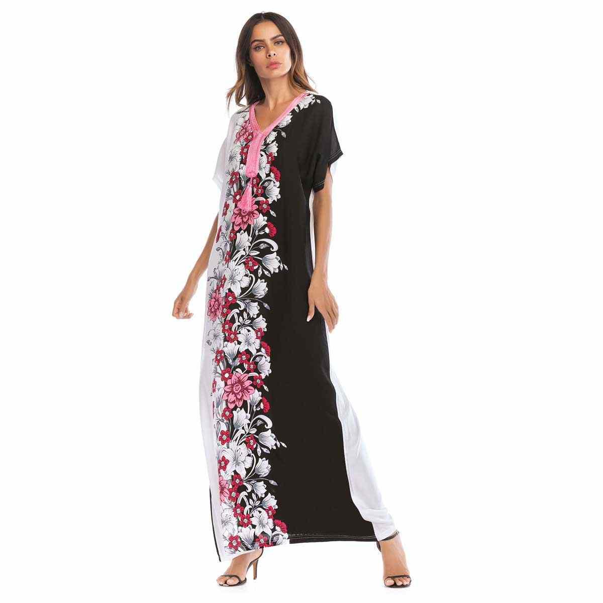 a155e39836 Siskakia Ramadan Must Haves Muslim Solid Fashion Weekend Abaya Dress ...