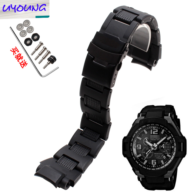 UYOUNG waterproof watch belt is portable with casio GW - A1100 GW - 4000 ga-1000 g-1400 casio g shock g classic ga 110mb 1a
