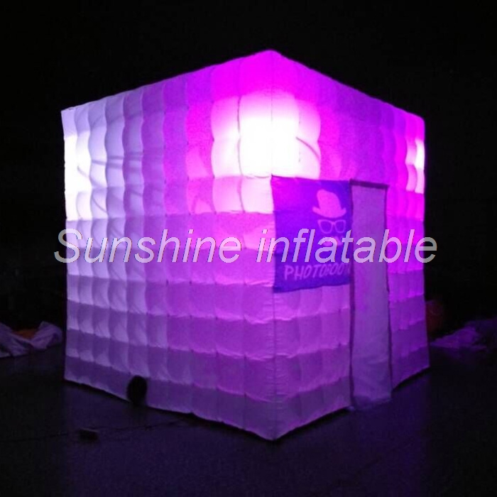2018 Free Logo fee inflatable led photo booth inflatable spray booth DJ booth for weddings