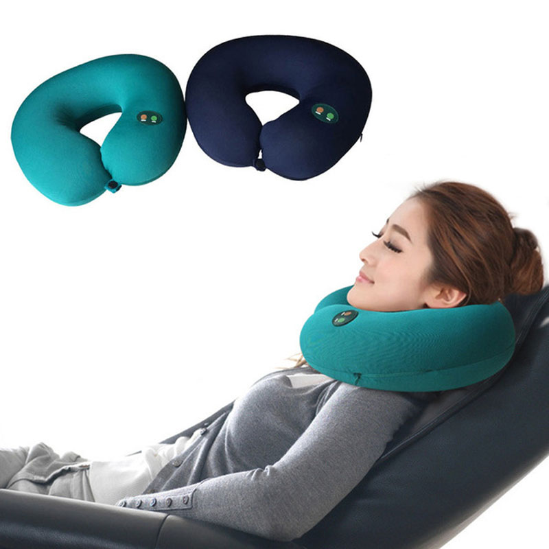 Medocflore New Neck Massager U Shape Pillow Electric Travel Nap Memory Pillow Massager Relax Smart Chip Mode  Hot Selling neck support nap pillow