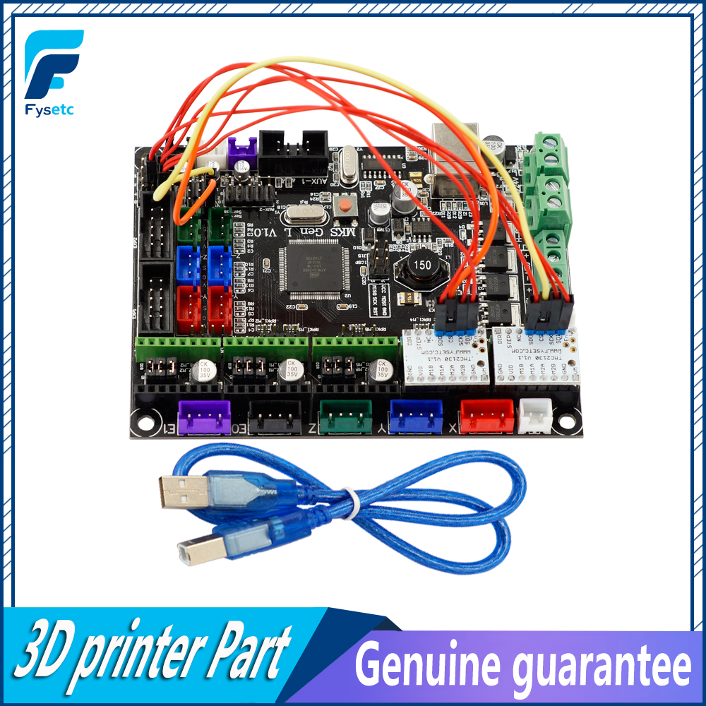 Integrated Mainboard MKS Gen-L V1.0 Board MKS Gen L v1.0 Compatible Ramps1.4/Mega2560 R3 +2pcs TMC2130 V1.1 SPI Stepper Drivers mks gen l v1 0 integrated mainboard mks gen l v1 0 compatible ramps1 4 mega2560 r3 mks tft32 3 2 touch screen
