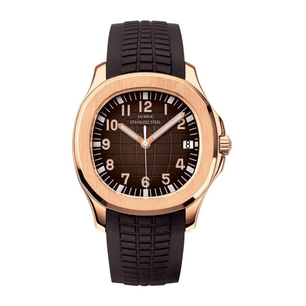LGXIGE Brand Watch Top Luxury mens Waterproof Luminous Hands wrist AAA watch Men  watch 2019 new sport male Earth clock