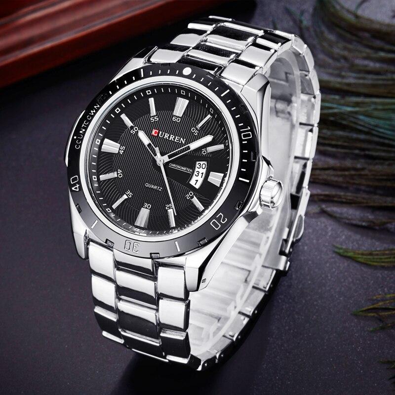 78bb02267da CURREN Watch Men Fashion Sports Quartz Clock Mens Watches Top Brand Luxury  Steel Business Waterproof Watch Relogio Masculino-in Quartz Watches from  Watches ...