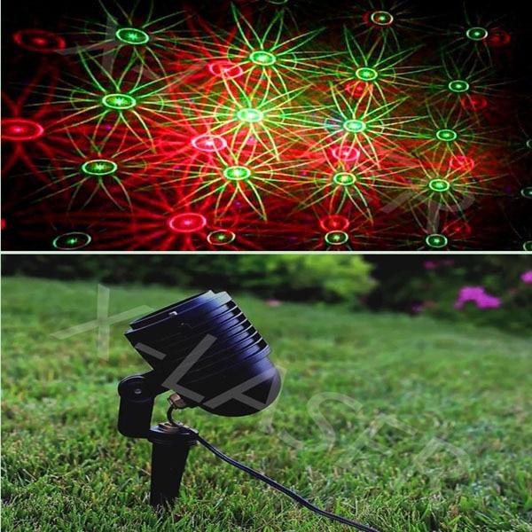 Rot Grün Moving Weihnachten Acht Blume Garten Laseraußenleuchten
