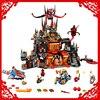 LEPIN 14019 1244Pcs Nexo Knights Axl Jestros Volcano Lair Marvel Building Block Compatible Legoe Toys For