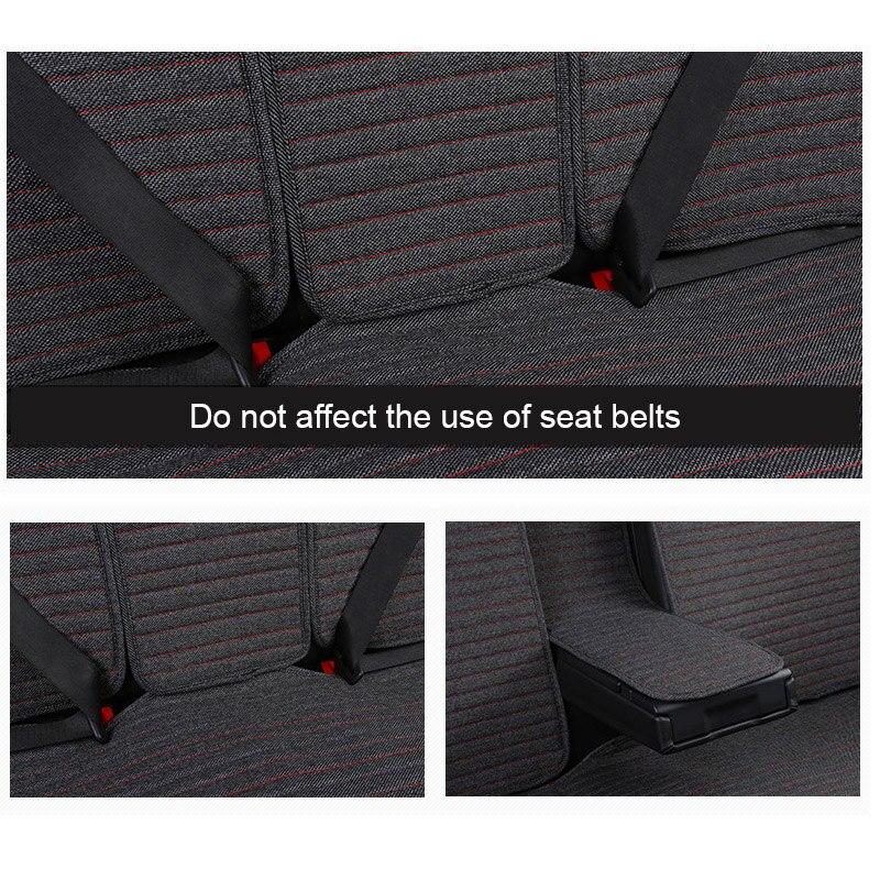2 pièces tapis de couverture protéger le coussin de siège de voiture universel/O SHI housses de siège de voiture pour Kia etc. la plupart des véhicules à moteur intérieur, camion, Suv ou Van - 4