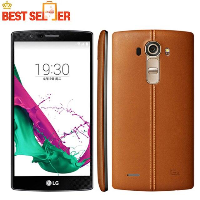 Unlocked LG G4 4G LTE Mobile Phones H815 H810 H811 Android Telephones Hexa Core 5.5 inch 16MP Camera Dual Sim ROM 32GB WIFI GPS