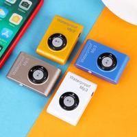 4GB/8GB/16GB Portable Mini MP3 Player IPX8 Waterproof Underwater MP3 Player FM Radio Stereo Lossless Music Players with Earphone