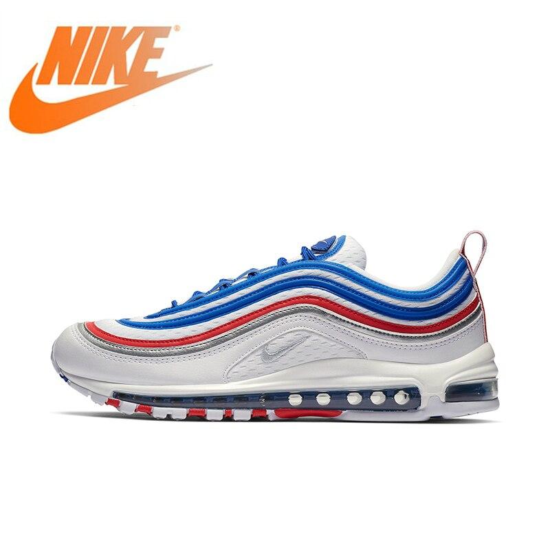 Original authentique Nike Air Max 97 chaussures de course pour hommes classique baskets de plein Air Absorption des chocs 2019 nouveauté 921826-404