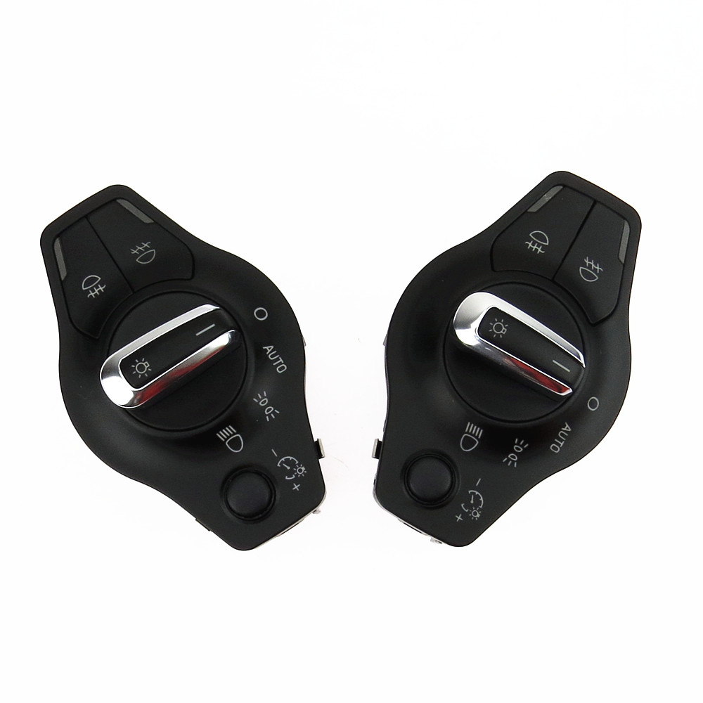 SCJYRXS Chrome Automatic Front Headlight Fog Lamp Switch For A4 A5 Q5 8K0941531AS 8K0 941 531AL 8K0 941 531 AS in Car Switches Relays from Automobiles Motorcycles