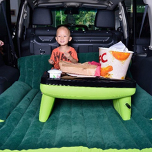 Universal Car Air Bed Inflatable Mattress Back Seat Cushion For Travel Camping flocking sofa Multi functional Auto Accessories