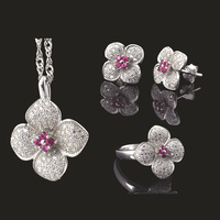 100% Pure S925 Sterling Silver Necklace Pendant Jewelry,Wholesale Fashion S925 Sterling Silver Jewelry Set With Certification