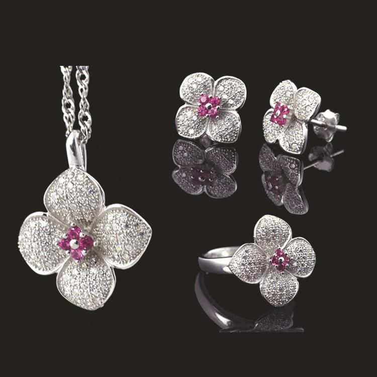 100% pur S925 en argent Sterling collier pendentif bijoux, vente en gros de mode S925-Sterling-Silver bijoux ensemble avec Certification