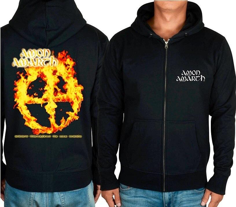 21 конструкции Амон рок молния хлопковые толстовки куртка sudadera панк тяжелый металл 3D череп флис Викинг Толстовка