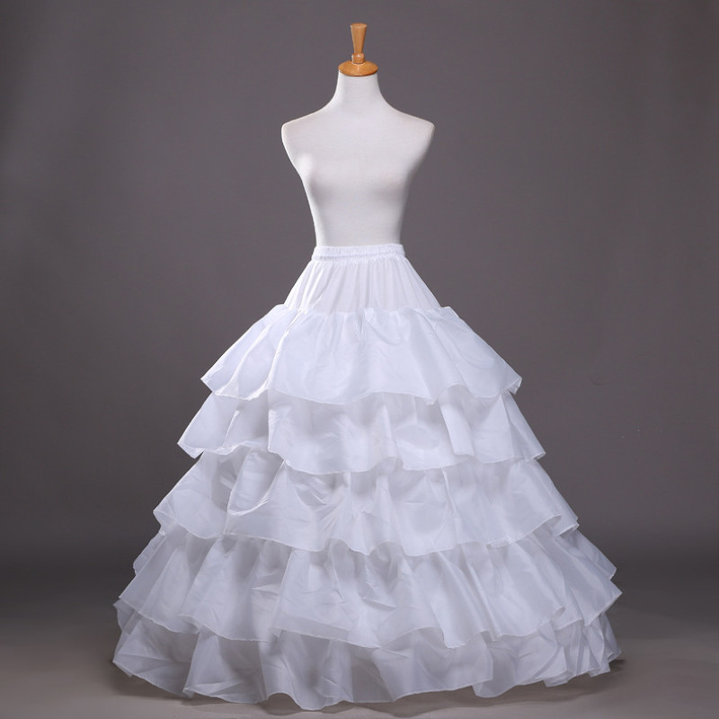 Back To Search Resultsweddings & Events Petticoats Enaguas Para El Vestido De Boda 5 Layers Ball Gown Petticoats White/red/black Big Ruffle Wedding Accessories Petticoat