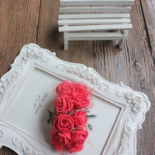 144pcs MINI foam roses for home Wedding fake Flower Decora Scrapbooking diy wreath gift box cheap Artificial bouquet
