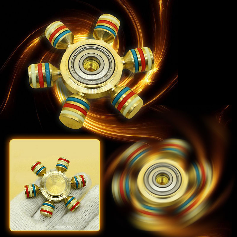 Hand Fidget Spinner Ceramic Ball Reduce Stress Desk Fidget Toys Kids Adults