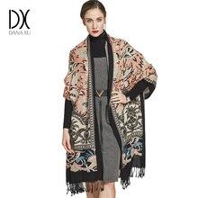 2019 kadın kış kaşmir Pashmina şal moda Boho tarzı ekose kalın sıcak battaniye panço Feminino Inverno eşarp Stoles