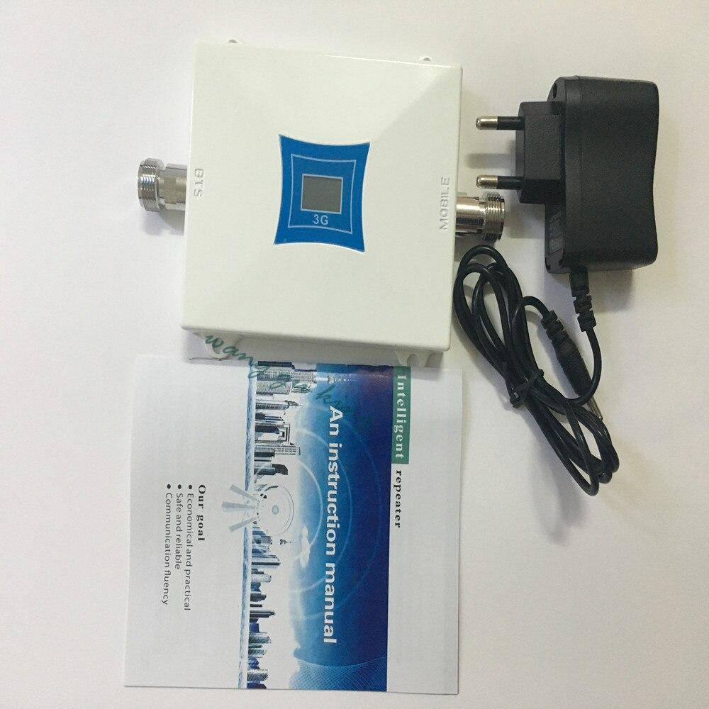 1 PC LCD famille 3G WCDMA 2100 MHz 2100 60db téléphone portable Signal Booster répéteur de Signal amplificateur de téléphone portable couverture de rehausseur 200m2