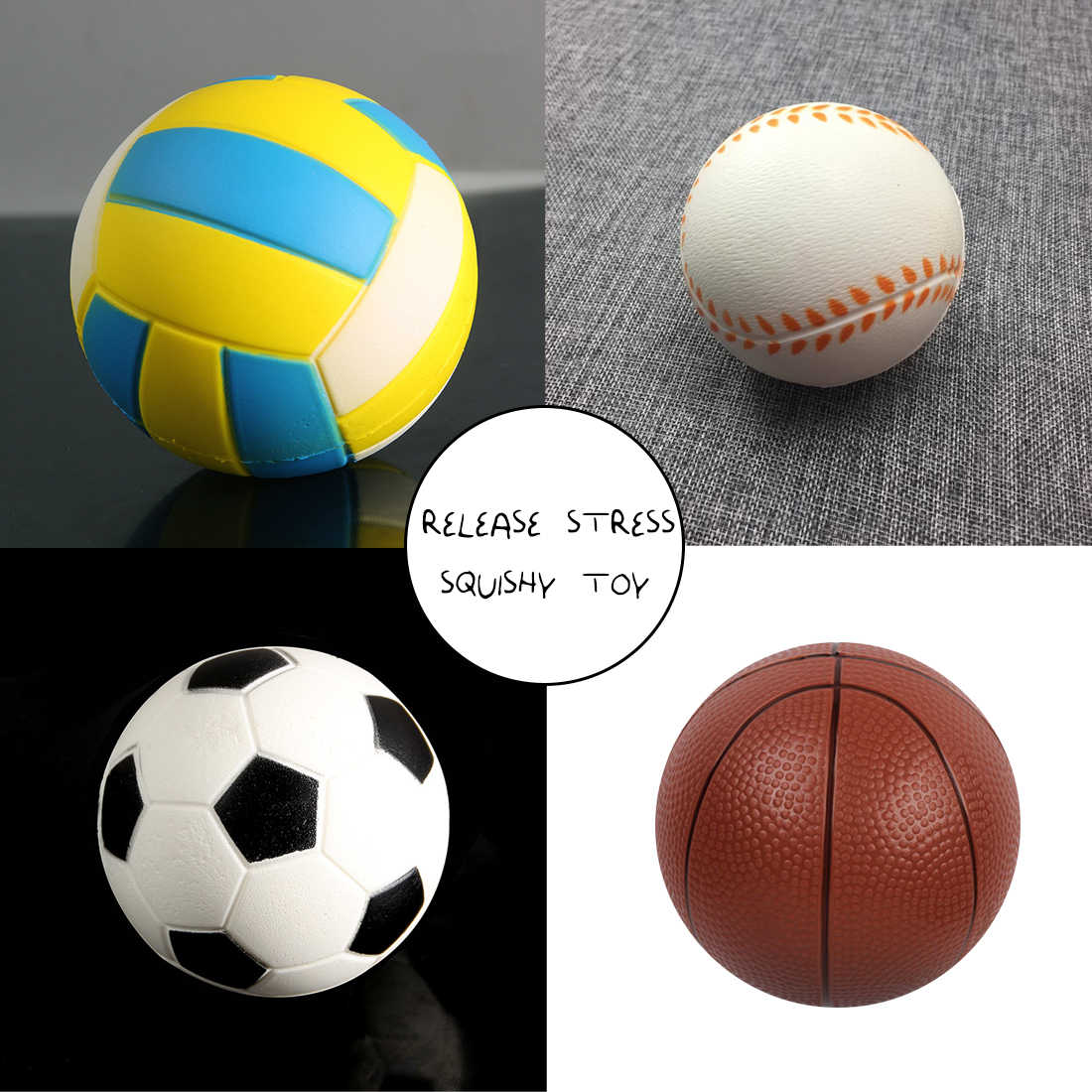 Etmakit Seksi Baru Jumbo Sepak Bola Bola Voli Untuk Squishy Slow Rising Lucu Telepon Straps Olahraga Bola Fun Anak Mainan Melepaskan Stres Hadiah