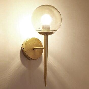 Moderne Glas Ball Wand Lampe Schlafzimmer LED Wand Leuchte Leuchte für  Wohnkultur Nordic Foyer Wohnzimmer Korridor Leuchte e27