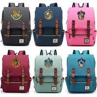Магия Хогвартс Равенкло Слизерин Гриффиндор для мальчиков и девочек портфели для подростков ранцы холст Для женщин Bagpack Для мужчин рюкзак