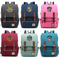 Magic Hogwarts Ravenclaw Slytherin Gryffindor Boy Girl Student School bag Teenagers Schoolbags Canvas Women Bagpack Men Backpack