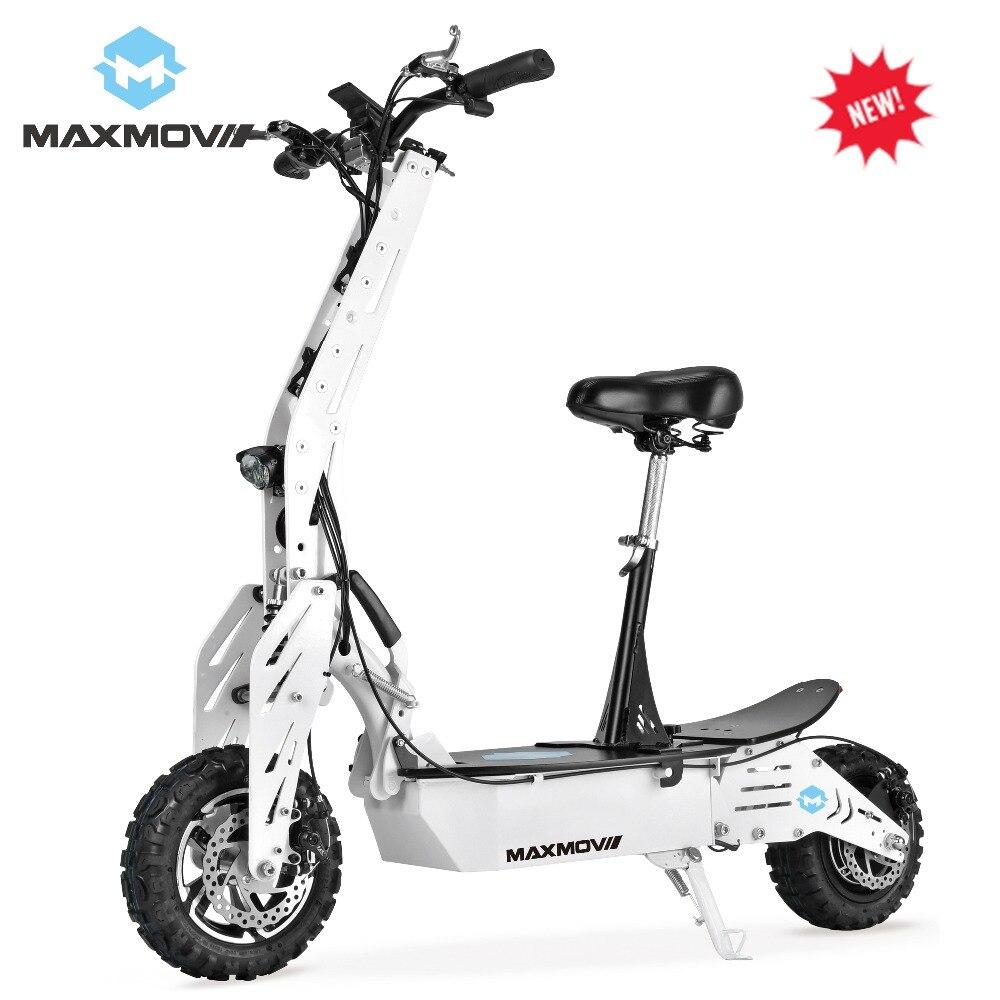2019 Top vente longue Distance d'entraînement 55 KM sans brosse Scooter électrique 1000 W 48 V moteur de moyeu avec 12 pouces deux roues